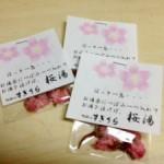 桜湯で一息